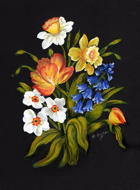 stroke painted flowers images  pinterest