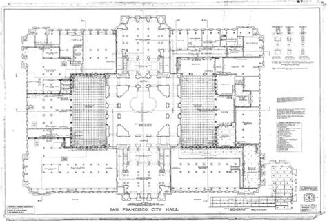 san francisco city hall floor plan calisphere mezzanine floor plan san francisco city hall