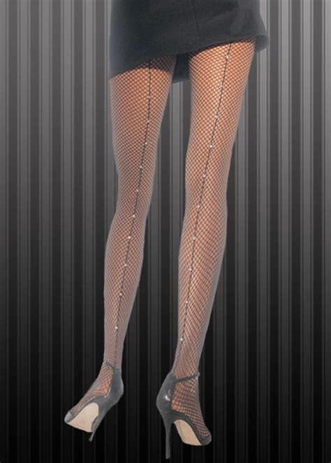 flapper girl  rhinestone fishnet tights