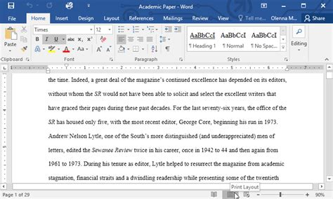 web layout view in ms word word 2016 getting started with word page 5