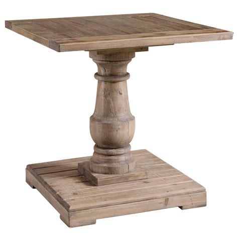 pedestal end table gamble rustic lodge salvaged fir stone wash pedestal end
