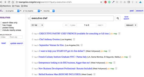 how to create resume alerts on craigslist the restaurant