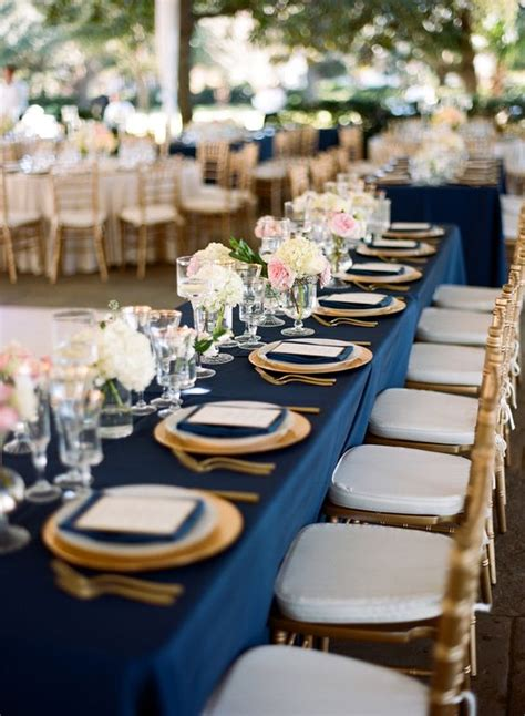 blue and gold centerpiece ideas 30 navy blue and gold wedding color ideas deer pearl flowers