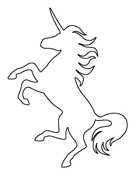 printable unicorn drawing unicorn pattern use the printable outline for crafts