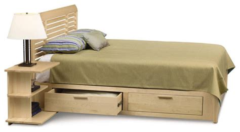 storage full bed harbor island twin full size storage bed by copeland