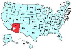 arizona on us map where is arizona in the southwest