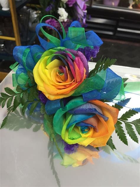 corsage colors rainbow roses make a great prom corsage so many colors