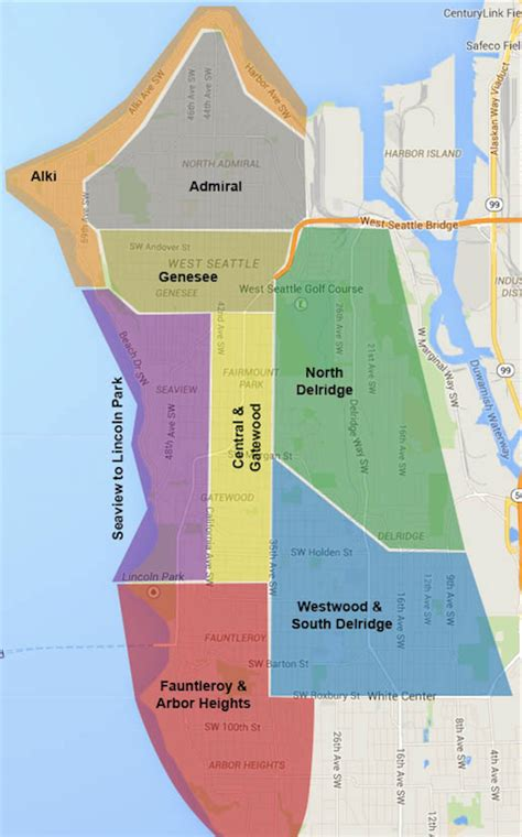 seattle map is west seattle neighborhoods sea town real estate