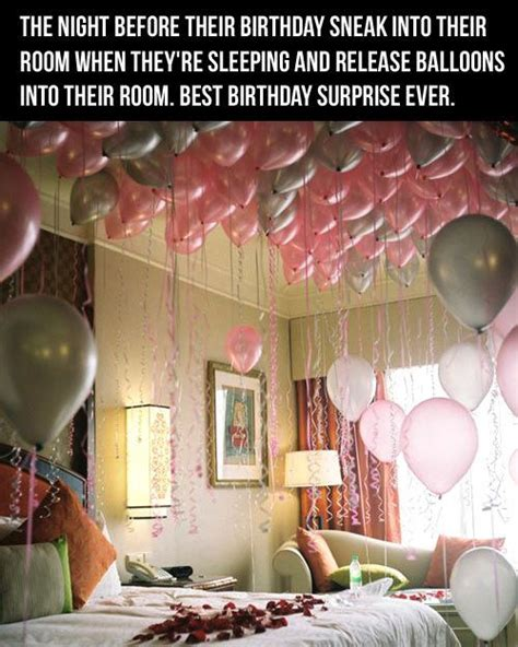 cool idea for birthday suprise balloons in the room nice