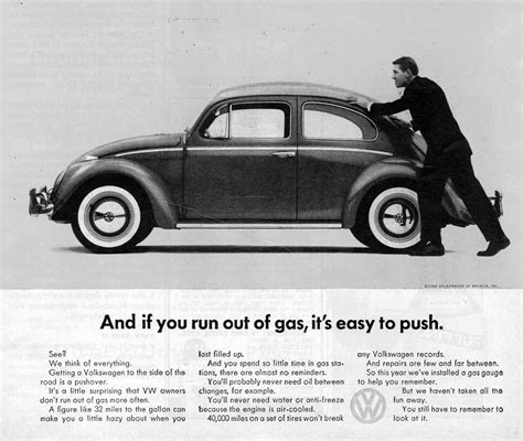 volkswagen ads just a car guy the classic self deprecating ads for vw bug
