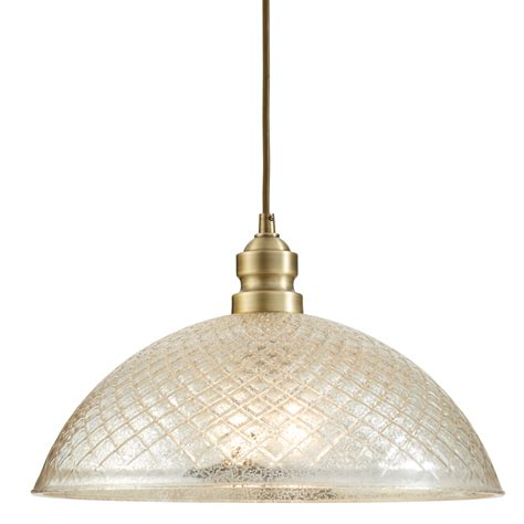 Allen And Roth Pendant Lighting Shop Allen Roth Lynlore 15 98 In Brass Vintage Hardwired Single Mercury Glass Dome