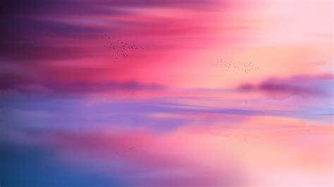 wallpaper sunset horizon reflection   nature