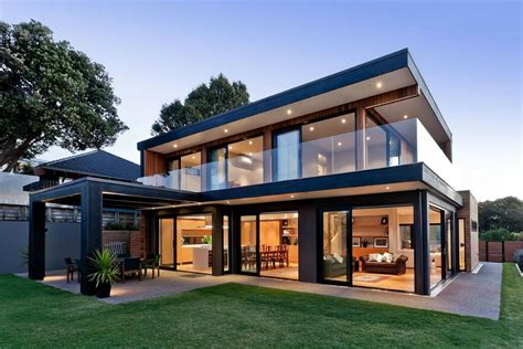 the new modern home modern new zealand house by creative arch opens up to sea