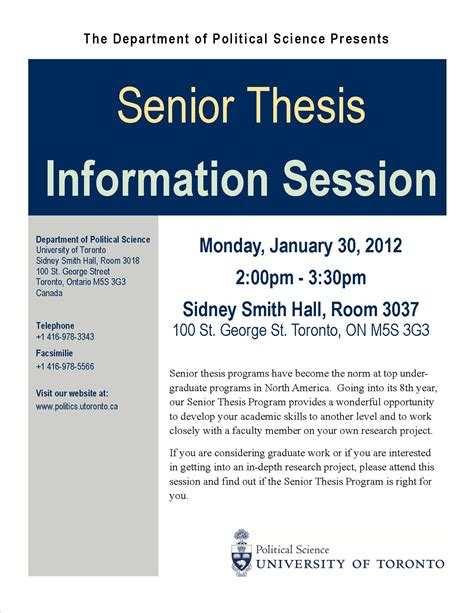 assisted thesis senior thesis information session department of