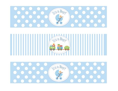 templates for baby shower labels etsy comprintable baby shower boy theme water bottle by