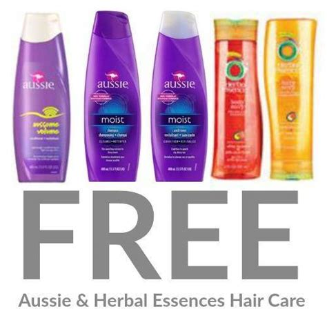 printable aussie hair product coupons free aussie herbal essence shoo conditioner or