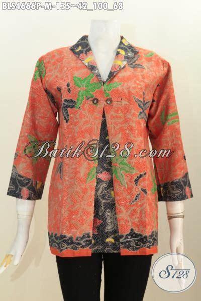 desain baju batik formal wanita baju blus formal desain kombinasi blazer lebih rapi dan
