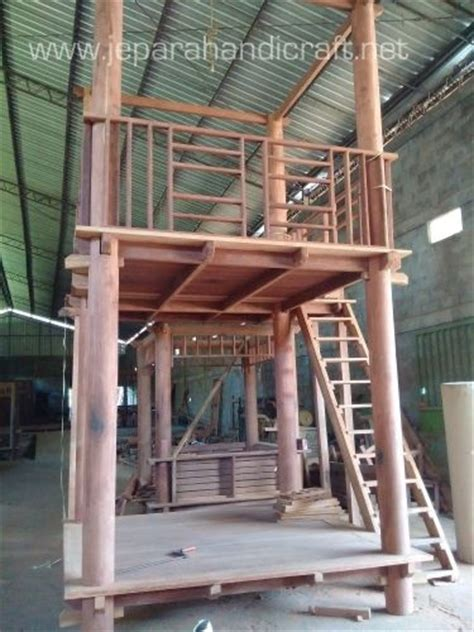 Gazebo Dengan Kayu Kelapa Gzb0002 jual gazebo tingkat minimalis kayu kelapa sulawesi murah