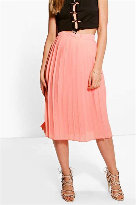 Chiffon Midi Skirt boohoo aura chiffon pleated midi skirt ebay