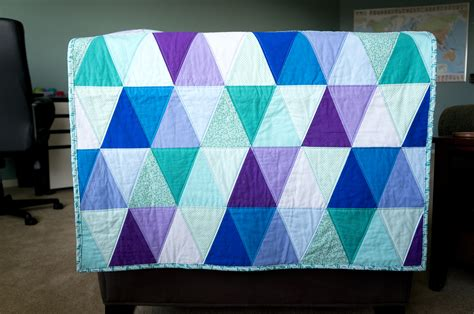 finished triangle quilt