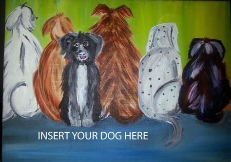 paint nite barrie canvas and cabernet paint your cope service dogs