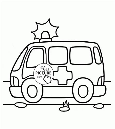 ambulance coloring pages emt of clip sketch coloring page