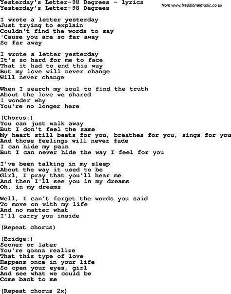 Letter Song letters song chords