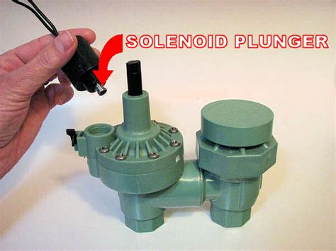 how to repair a irrigation solenoid valve