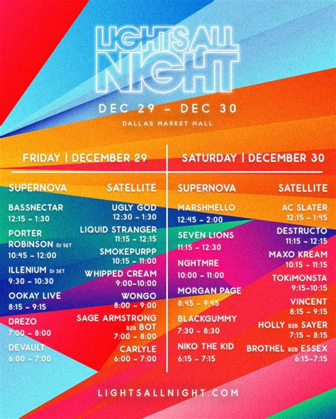 lights all night lineup 2017 the central track baller pack lights all night 2017