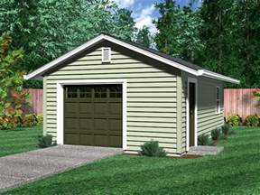 one car garage plans detached garages