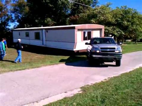 mobile home moving fail mobile home falls truck