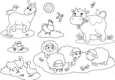 cute farm animals coloring pages cute farm animals coloring pages
