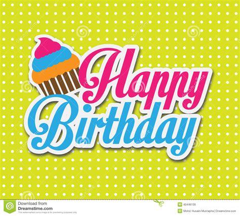 happy birthday ascii design colorful happy birthday card vector illustration design