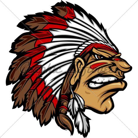 american indian car indian chief mascot head cartoon vector graphic 183 gl stock