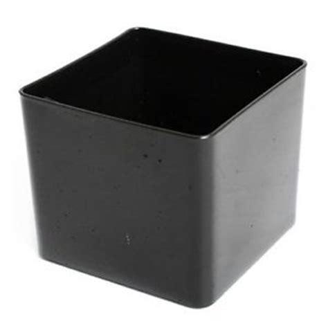 Square Plastic Planter Boxes by Cube Plastic Planter 10 5cm Black Square Plant Pot Ebay