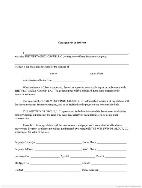 Release Of Interest Letter Free best photos of printable letter of interest sle