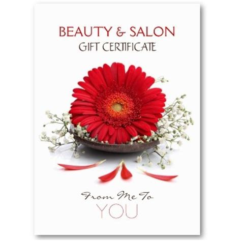beauty salon gift certificate business card template by