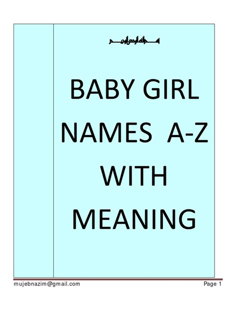 baby names a z with meaning