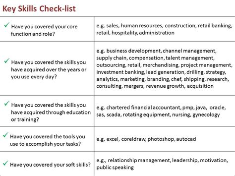 sle of key skills in resume doc 500708 key skills cv sle bizdoska