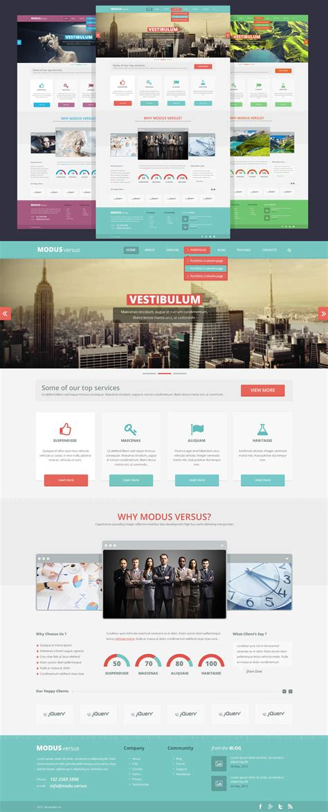 flat psd template clean flat website free psd template