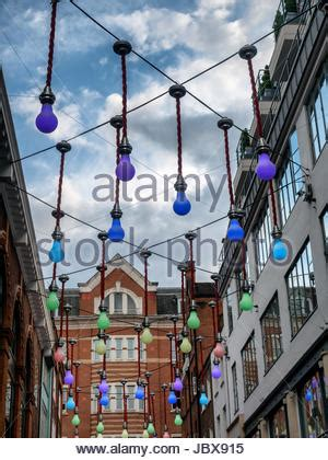 carnaby street, famous shopping street with people in