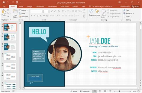 Resume Powerpoint Template by Tutorial De Powerpoint
