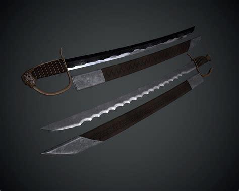 Gamis Syar I Lamina Blue bloody scythe and soulrender reborne 武器 skyrim mod