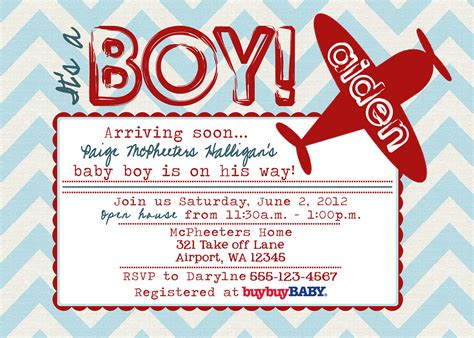 Airplane Baby Shower Invitations by Airplane Baby Shower Invitations Dolanpedia Invitations
