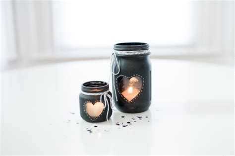 diy chalkboard jar candle centerpiece craft warehouse