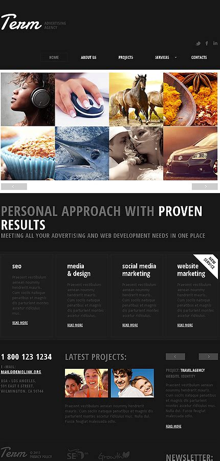 Advertising Agency Responsive Website Template 43870 Marketing Agency Website Template