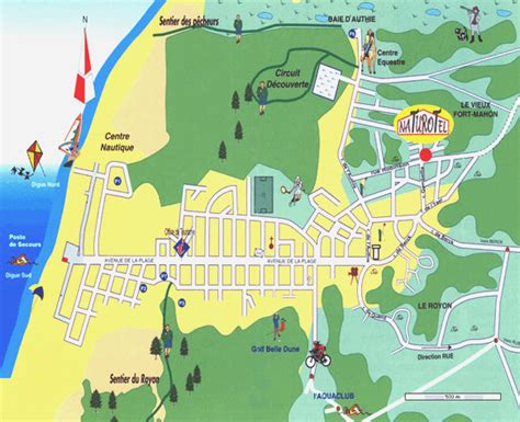 plan images location and map of fort mahon plage
