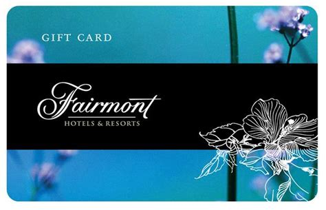 Fairmont Hotel Gift Card - fairmont gift cards are available in denominations ranging from 50 us to 5 000 us