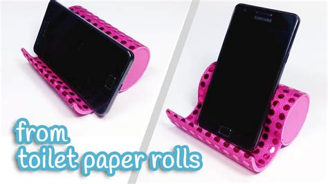 How To Make Paper Rolls - diy crafts phone holder from toilet paper rolls innova