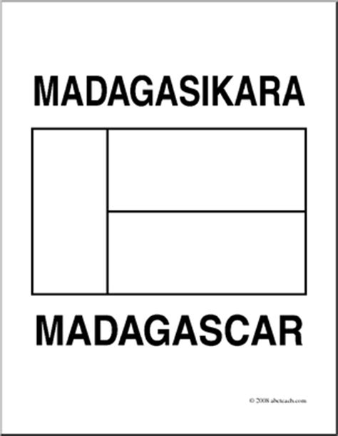 Madagascar Flag Coloring Page clip flags madagascar coloring page abcteach